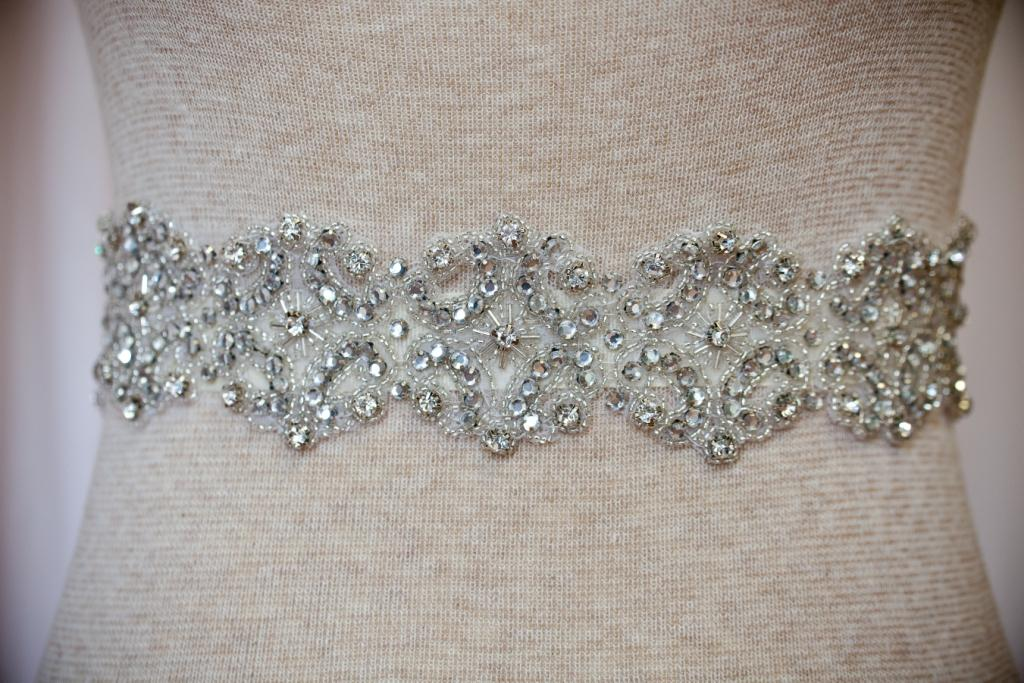 Rhinestone Beaded Bridal Sash